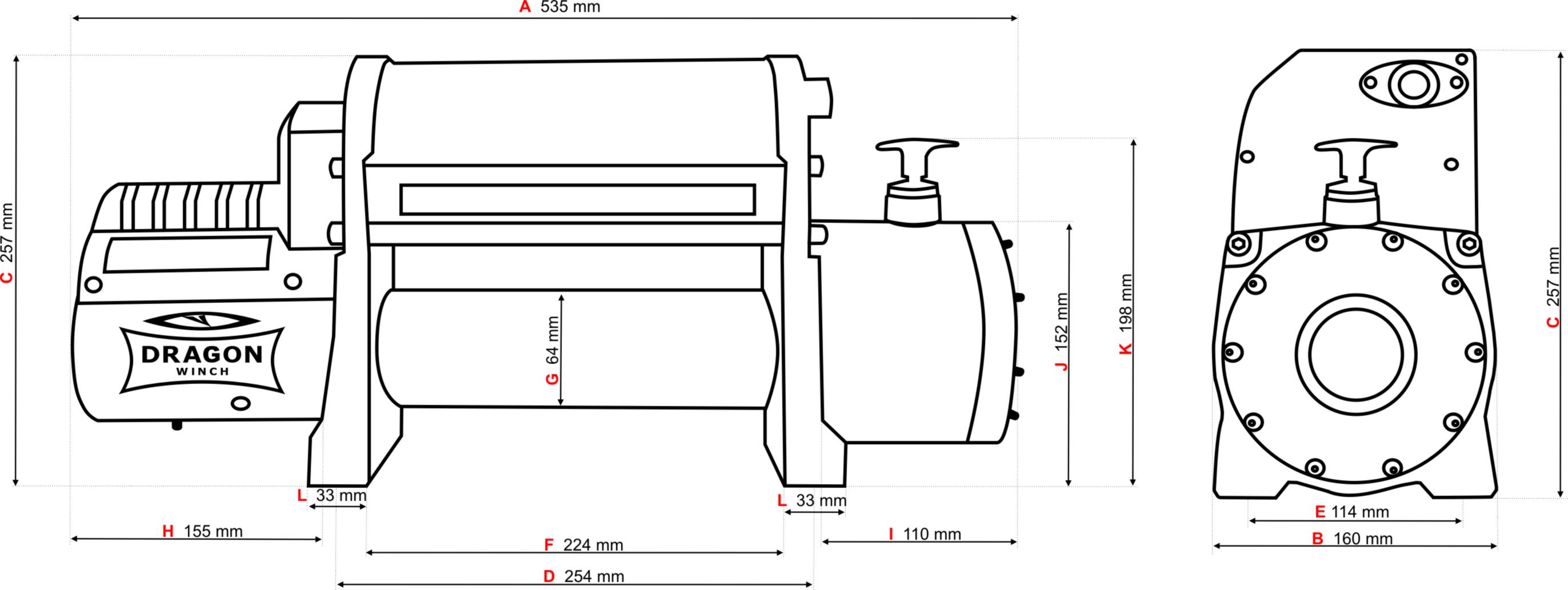 in set  winch dwm 12000 hdi   power switch   winch cover