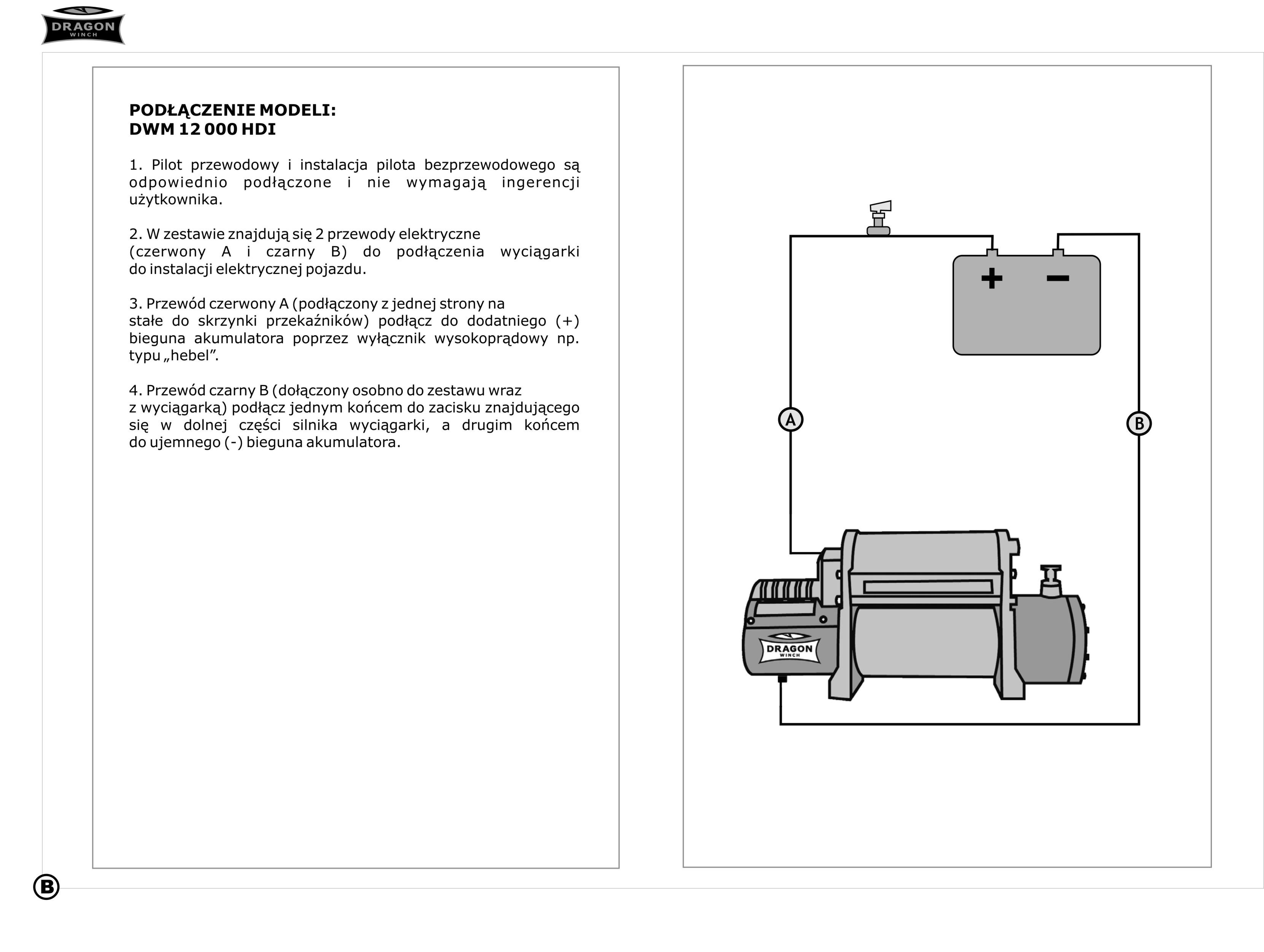 Wyciągarka elektryczna Dragon Winch DWT16800HD.